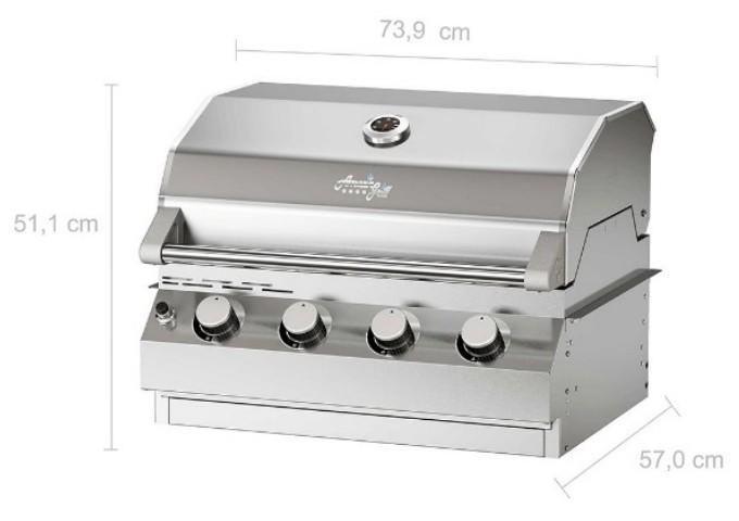 Churrasqueira a Gás AmazinGrill E4 em Inox 304  - Decorgrill - A certeza do melhor para o seu espaço gourmet!