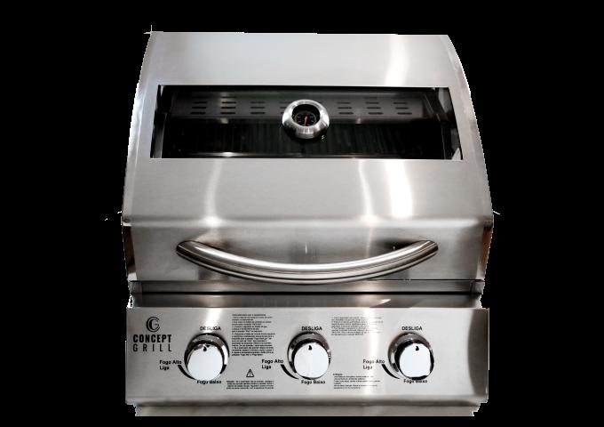Churrasqueira a Gás ConceptGrill Inox com 3 queimadores    - Decorgrill - A certeza do melhor para o seu espaço gourmet!