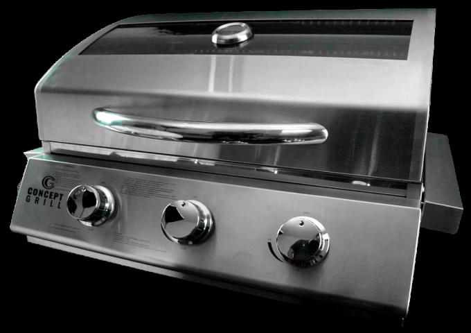 Churrasqueira a Gás ConceptGrill Inox com 3 queimadores