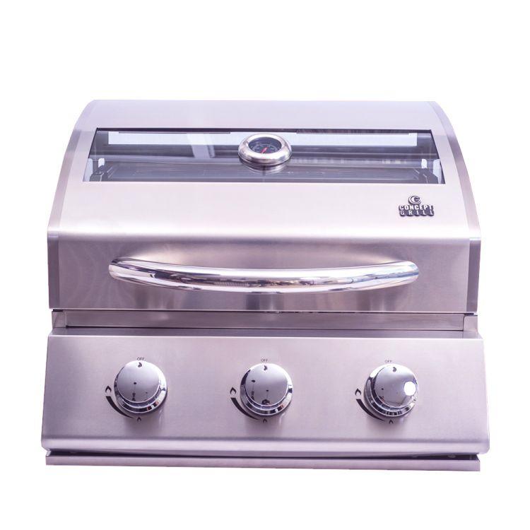 Churrasqueira a Gás Conceptgrill em Inox 304 com 3 queimadores  - Decorgrill - A certeza do melhor para seu espaço gourmet!