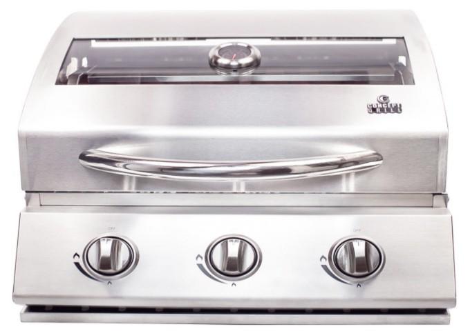 Churrasqueira a Gás Concept Grill em Inox 304 com 3 queimadores