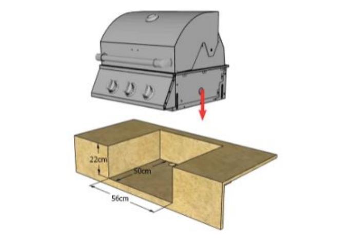Churrasqueira Bonezze a Gás de Embutir com 3 Queimadores  - Decorgrill - A certeza do melhor para o seu espaço gourmet!