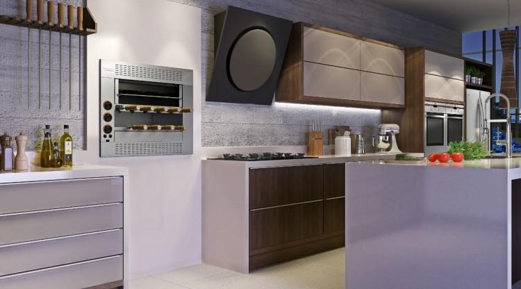 Churrasqueira a Gás de Embutir Felesa com 4 Espetos Giratórios  - Decorgrill - A certeza do melhor para o seu espaço gourmet!