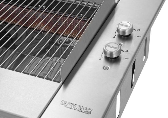 Churrasqueira a Gás de Embutir sem fumaça Felesa  - Decorgrill - A certeza do melhor para seu espaço gourmet!
