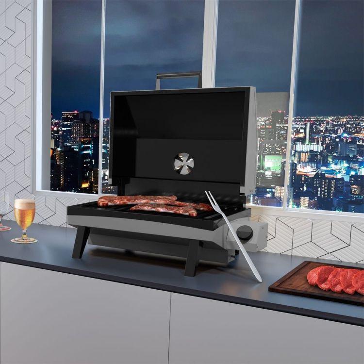 Churrasqueira a Gás Portátil Cinza GS500EC Metavila  - Decorgrill - A certeza do melhor para o seu espaço gourmet!