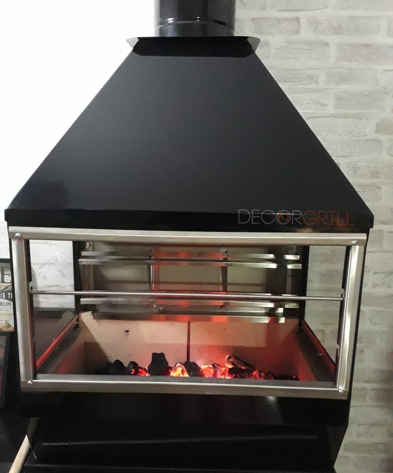 Churrasqueira de Parede Gourmet em Inox 304 Black Piano  - Decorgrill - A certeza do melhor para seu espaço gourmet!