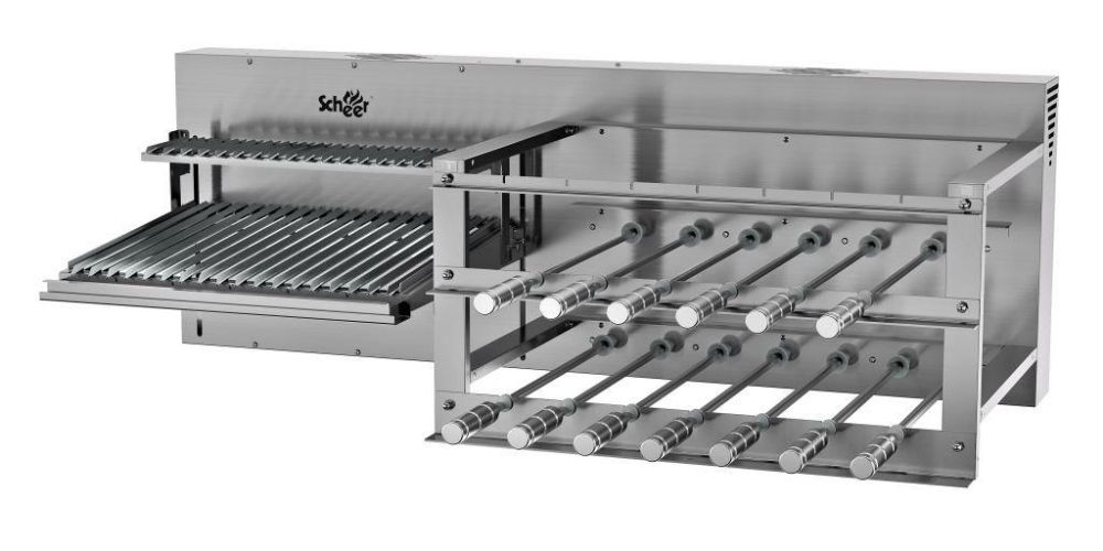 Churrasqueira Due 600 Rotativo + Parrilla Automática