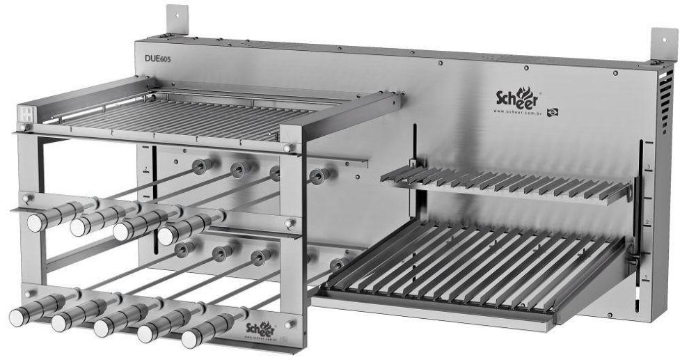 Churrasqueira DUE 605 Rotativo com Lift Grill + Parrilla Automática