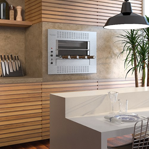 Churrasqueira Elétrica Gourmet de Embutir Felesa com 5 Espetos Giratórios  - Decorgrill - A certeza do melhor para o seu espaço gourmet!