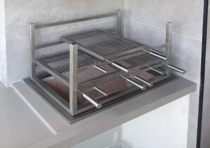 Churrasqueira em aço Inox 304 Maciço  - Decorgrill - A certeza do melhor para o seu espaço gourmet!
