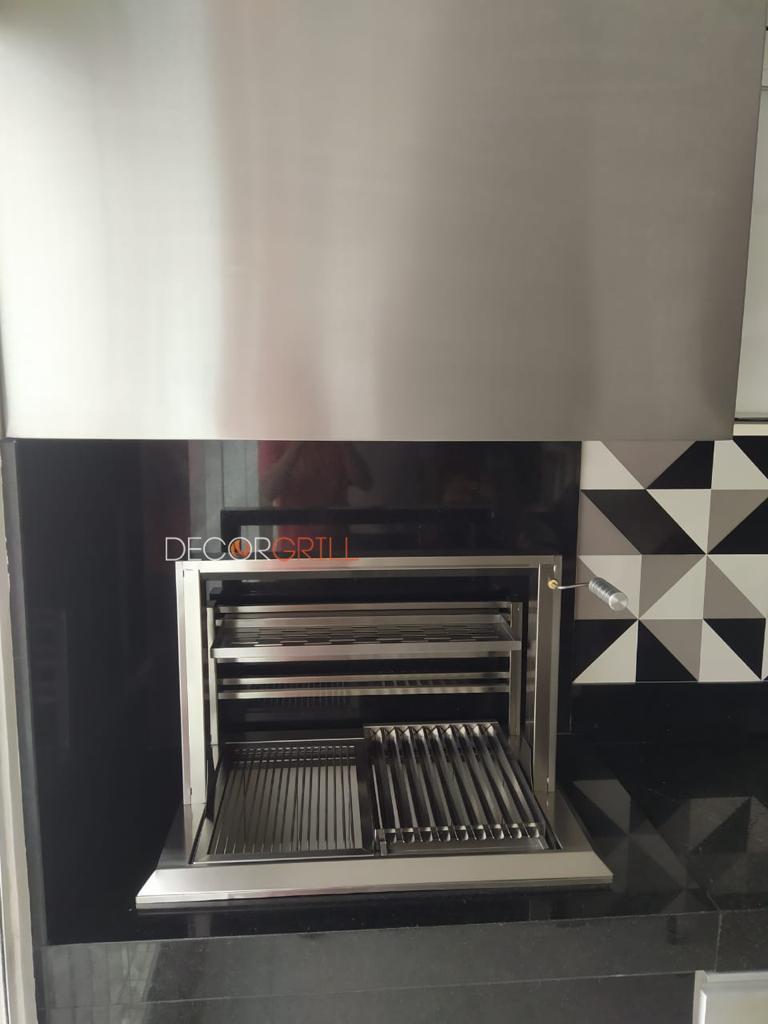 Churrasqueira Gourmet em Inox com Elevação  - Decorgrill - A certeza do melhor para seu espaço gourmet!