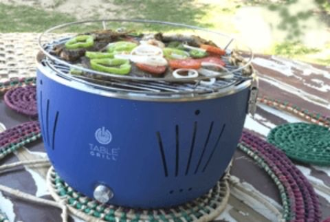 Churrasqueira Portátil Table Grill Azul