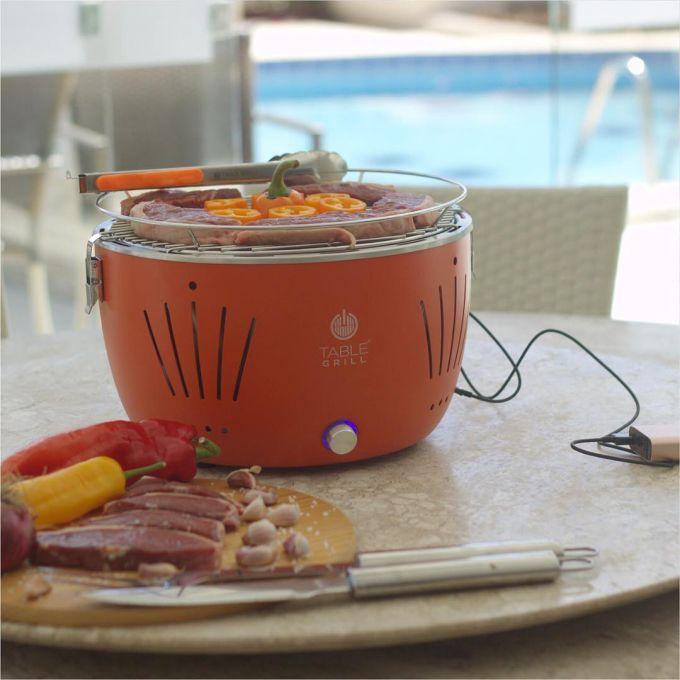 Churrasqueira Portátil Table Grill Laranja  - Decorgrill - A certeza do melhor para o seu espaço gourmet!