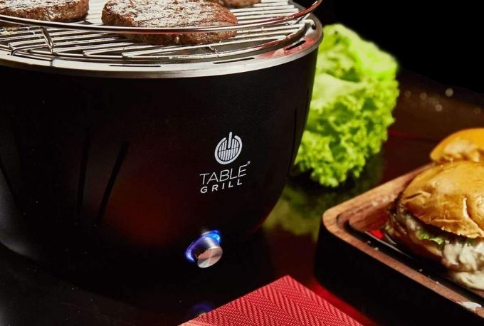 Churrasqueira Portátil Table Grill Preta