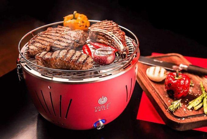 Churrasqueira Portátil Table Grill Vermelha