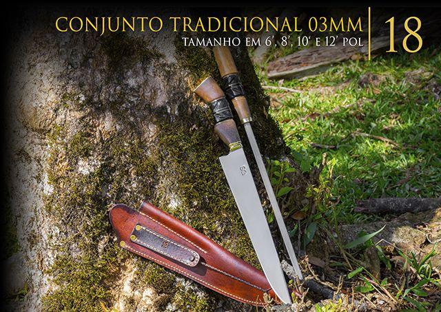 Conjunto Tradicional 3MM - 10 Pol  - Decorgrill - A certeza do melhor para o seu espaço gourmet!