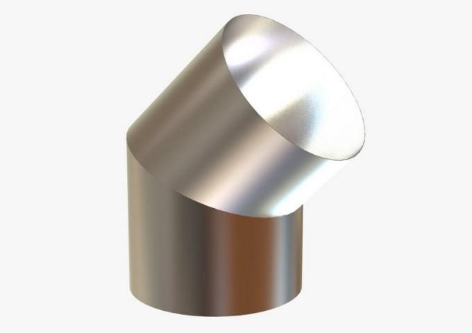 Curva Curta de 45º Graus em Inox de 200MM