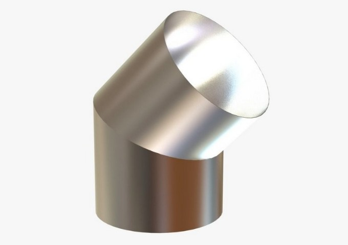 Curva Curta de 45º Graus em Inox de 250MM