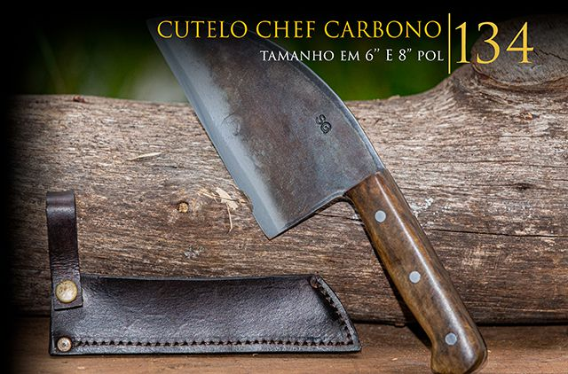 Cutelo Chef Carbono - 8 Pol