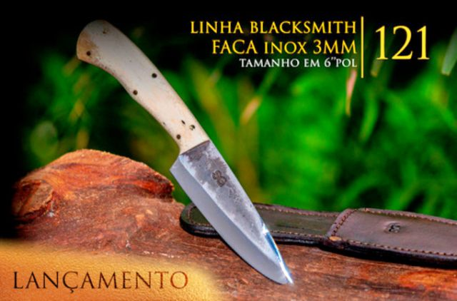 Faca BlackSmith 3MM Tala De Osso - 6 Pol