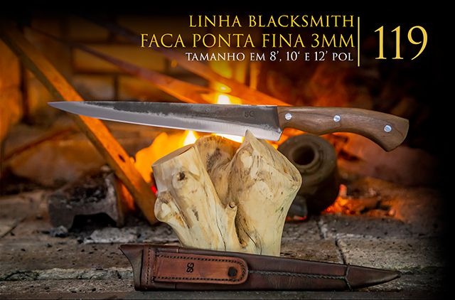 Faca BlackSmith Ponta Fina 03MM - 8 Pol