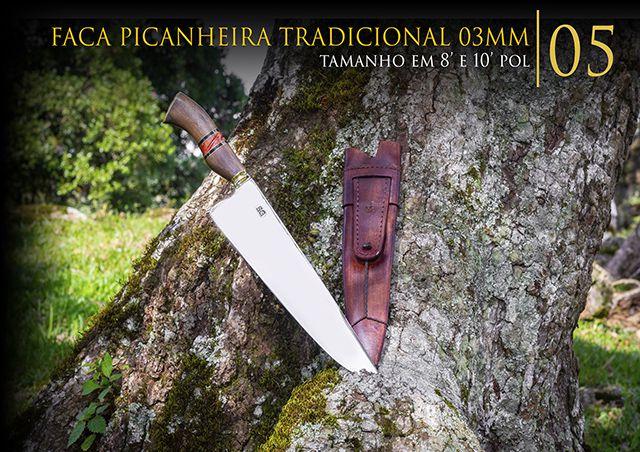 Faca Picanheira Tradicional 03MM - 10 Pol