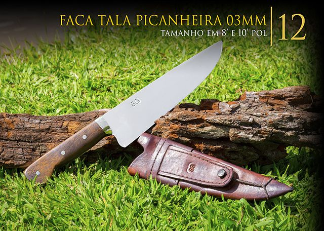 Faca Tala Picanheira 03MM - 10 Pol