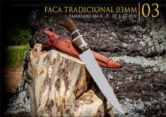 Faca Tradicional 03MM - 10 Pol  - Decorgrill - A certeza do melhor para seu espaço gourmet!