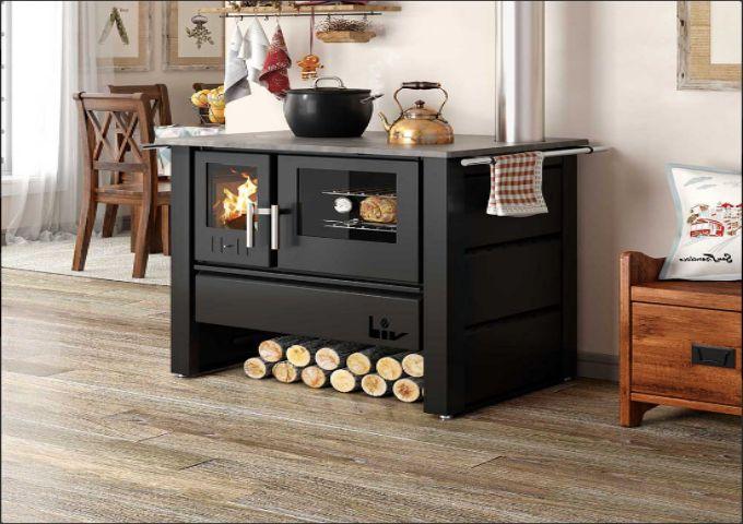Fogão a Lenha com Tampo de Ferro Fundido Liv 805  - Decorgrill - A certeza do melhor para seu espaço gourmet!