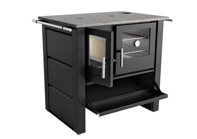 Fogão a Lenha LIV 805 com Tampo de Ferro Fundido  - Decorgrill - A certeza do melhor para o seu espaço gourmet!