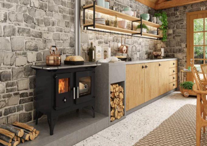 Fogão a Lenha F700F Metavila, estilo e qualidade.  - Decorgrill - A certeza do melhor para o seu espaço gourmet!