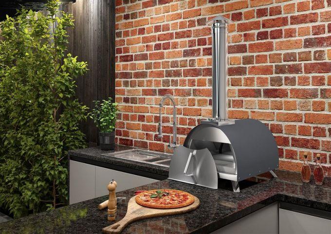 Forno de Pizza 400EX a Lenha/Pellet Garden Cinza