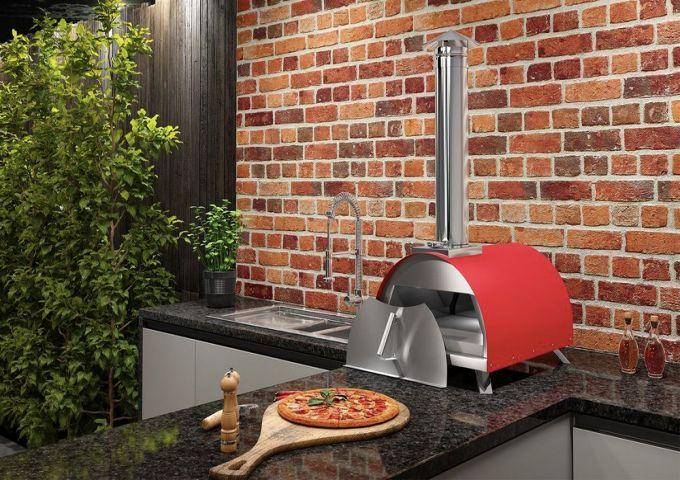 Forno de Pizza 400EX a Lenha/Pellet Garden Vermelho