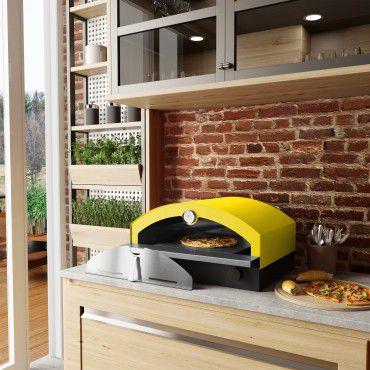 Forno de Pizza à Gás Amarelo