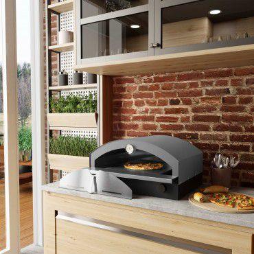 Forno de Pizza à Gás Cinza
