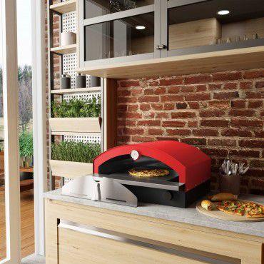 Forno de Pizza à Gás Vermelho