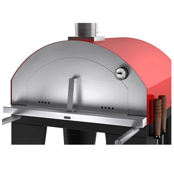 Forno de Pizza Garden Vermelho Metavila  - Decorgrill - A certeza do melhor para o seu espaço gourmet!