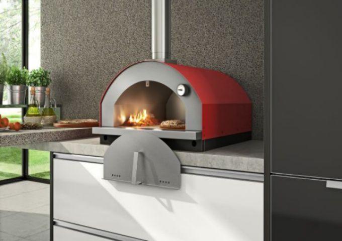 Forno de Pizza Gourmet vermelho