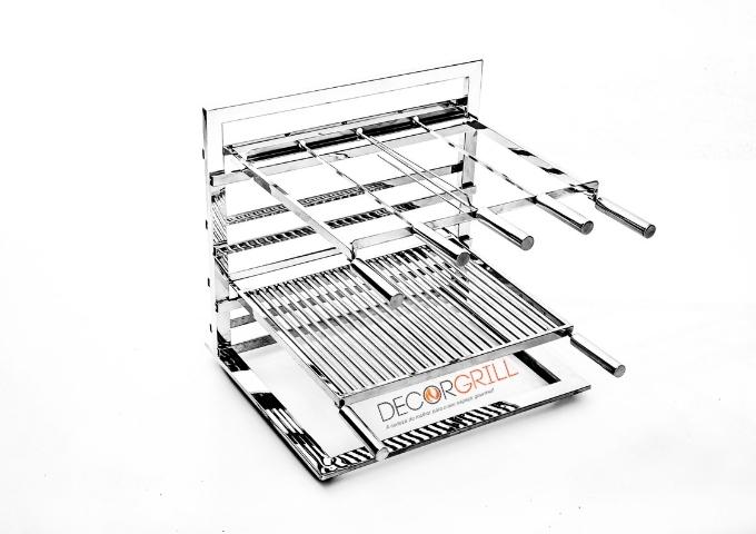 Grill em Inox 304 Suporte de Fundo Decorgrill 60cmx40cm  - Decorgrill - A certeza do melhor para o seu espaço gourmet!