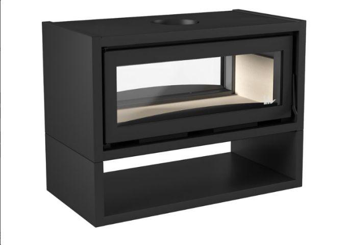 Inserto LIV502 dupla face, sistema de Dupla Combustão Grande  - Decorgrill - A certeza do melhor para o seu espaço gourmet!