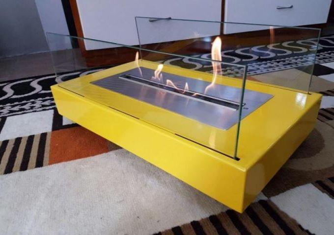Lareira em Aço Carbono Amarela  - Decorgrill - A certeza do melhor para o seu espaço gourmet!