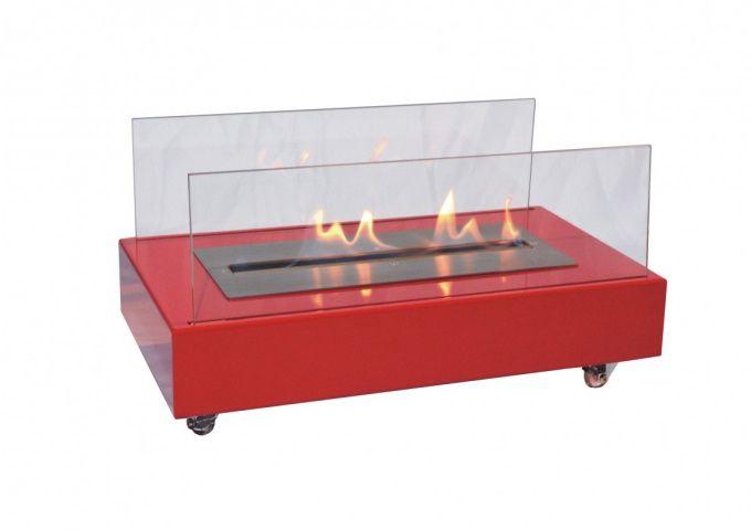 Lareira em Aço Carbono Vermelho  - Decorgrill - A certeza do melhor para o seu espaço gourmet!