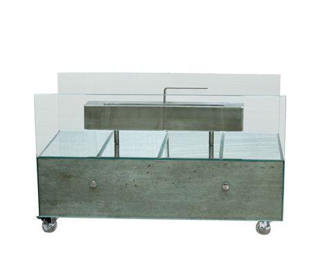 Lareira Grande Concreto Espelhos Prata FullWay   - Decorgrill - A certeza do melhor para o seu espaço gourmet!
