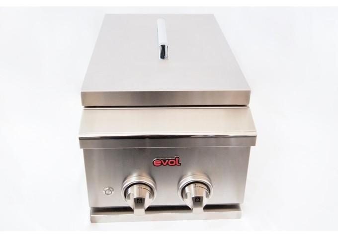 Side Burner à Gás Evol 2 Queimadores Tripla-Chama Inox  - Decorgrill - A certeza do melhor para o seu espaço gourmet!