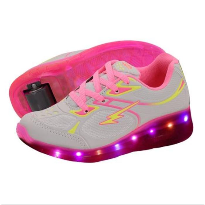 512f3e425 Tênis De Rodinha Com Led Feminino Minipé Rosa - loja de ...