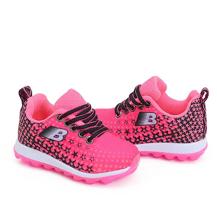 64f31986eaf Tênis infantil meninas Pink Preto Botinho