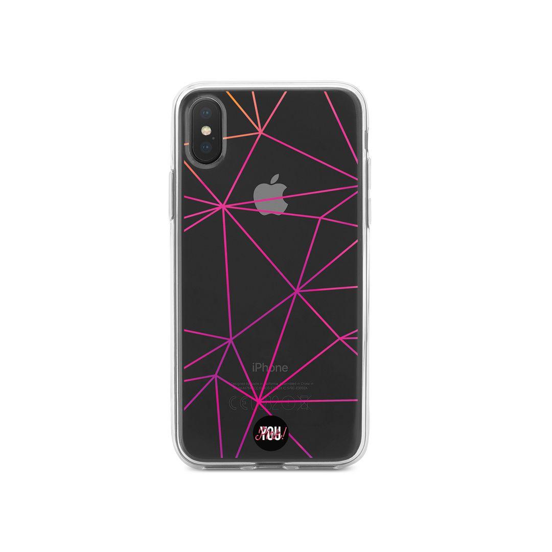 Case Linhas Geométricas Pink