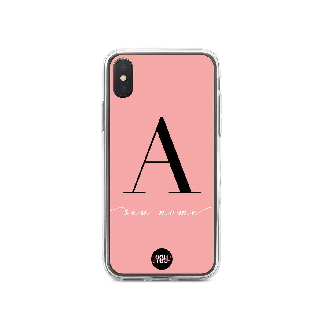 Case Monograma Black in Rose