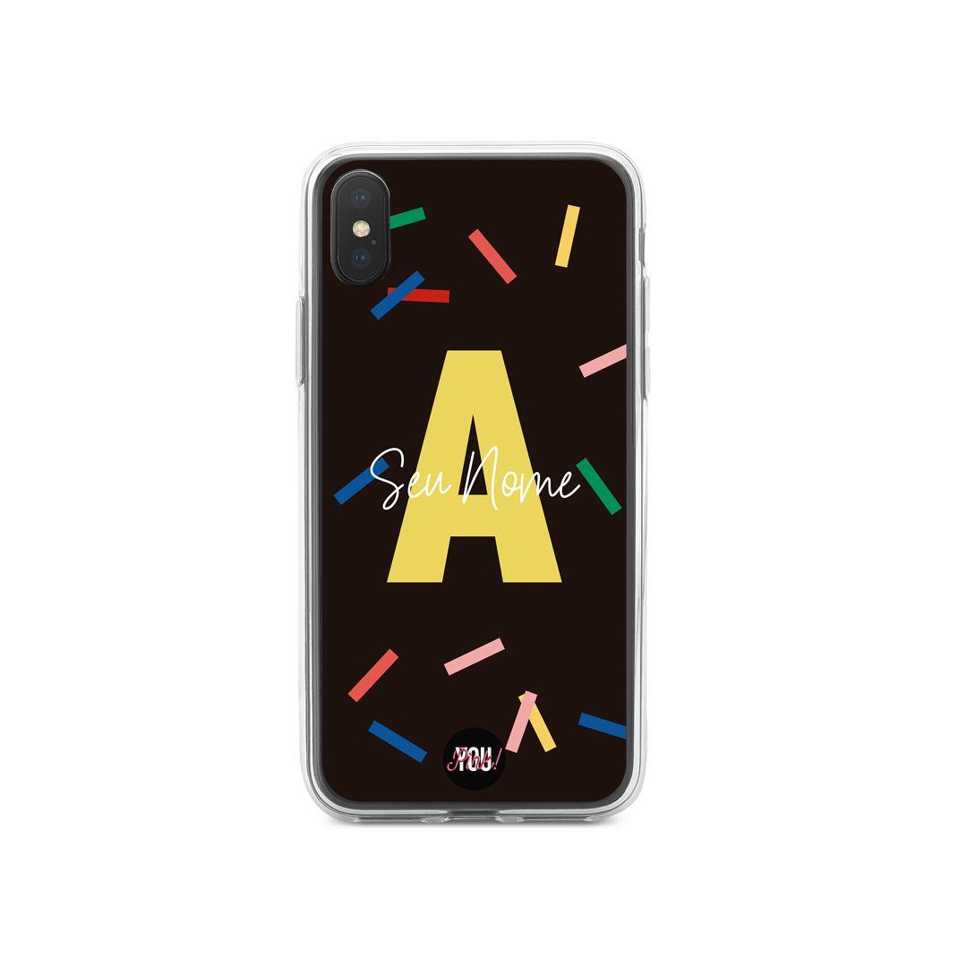 Case Monograma Confetti