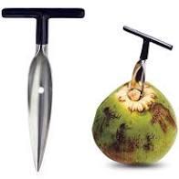 Abridor para coco em inox